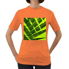 Frond Leaves Tropical Nature Plant Women s Dark T Shirt