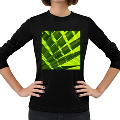 Frond Leaves Tropical Nature Plant Women s Long Sleeve Dark T Shirts