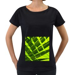 Frond Leaves Tropical Nature Plant Women s Loose Fit T Shirt (black)