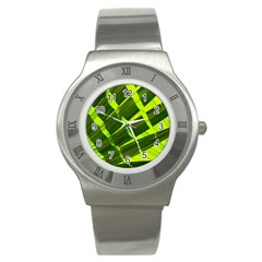 Frond Leaves Tropical Nature Plant Stainless Steel Watch