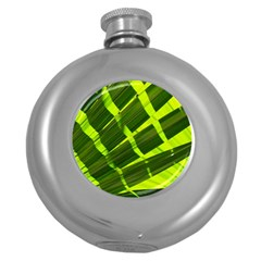 Frond Leaves Tropical Nature Plant Round Hip Flask (5 Oz)