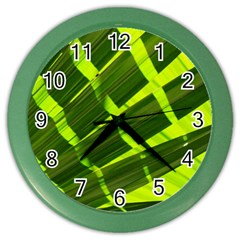 Frond Leaves Tropical Nature Plant Color Wall Clocks