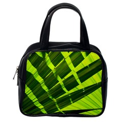 Frond Leaves Tropical Nature Plant Classic Handbags (one Side)