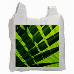 Frond Leaves Tropical Nature Plant Recycle Bag (one Side)