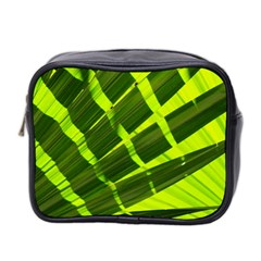 Frond Leaves Tropical Nature Plant Mini Toiletries Bag 2 Side