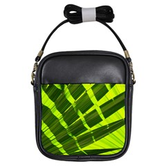 Frond Leaves Tropical Nature Plant Girls Sling Bags