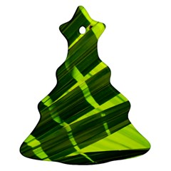 Frond Leaves Tropical Nature Plant Christmas Tree Ornament (two Sides)
