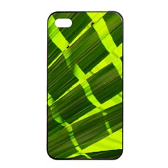 Frond Leaves Tropical Nature Plant Apple Iphone 4/4s Seamless Case (black)