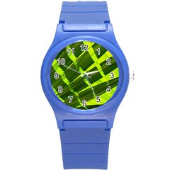 Frond Leaves Tropical Nature Plant Round Plastic Sport Watch (s)