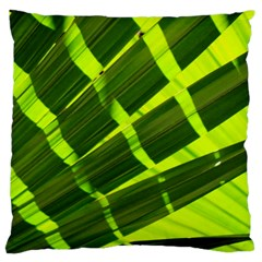 Frond Leaves Tropical Nature Plant Large Cushion Case (two Sides)