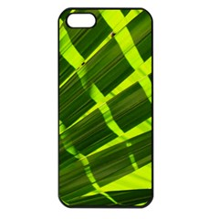 Frond Leaves Tropical Nature Plant Apple Iphone 5 Seamless Case (black)