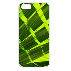 Frond Leaves Tropical Nature Plant Apple Iphone 5 Seamless Case (white)