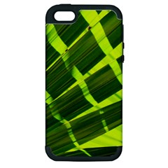 Frond Leaves Tropical Nature Plant Apple Iphone 5 Hardshell Case (pc+silicone)