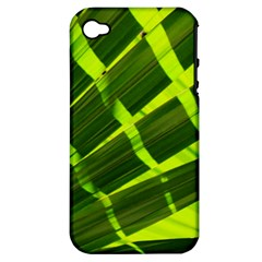 Frond Leaves Tropical Nature Plant Apple Iphone 4/4s Hardshell Case (pc+silicone)