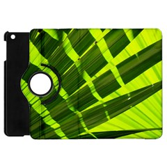 Frond Leaves Tropical Nature Plant Apple Ipad Mini Flip 360 Case