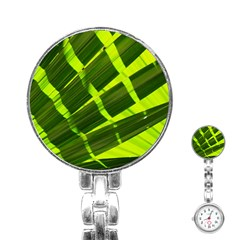 Frond Leaves Tropical Nature Plant Stainless Steel Nurses Watch