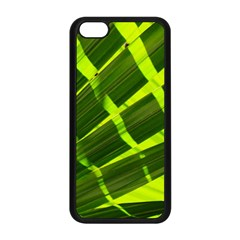 Frond Leaves Tropical Nature Plant Apple Iphone 5c Seamless Case (black)