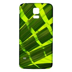 Frond Leaves Tropical Nature Plant Samsung Galaxy S5 Back Case (white)