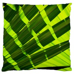 Frond Leaves Tropical Nature Plant Standard Flano Cushion Case (two Sides)