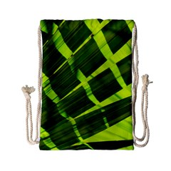 Frond Leaves Tropical Nature Plant Drawstring Bag (small)