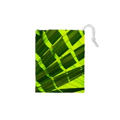 Frond Leaves Tropical Nature Plant Drawstring Pouches (xs)
