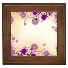 Floral Background Framed Tiles