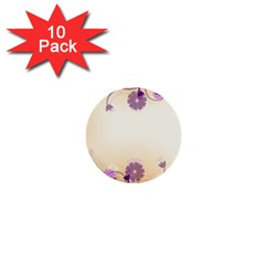 Floral Background 1  Mini Buttons (10 Pack)