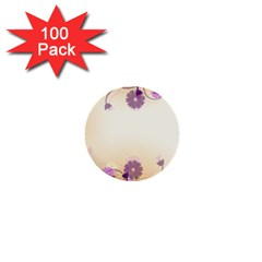 Floral Background 1  Mini Buttons (100 Pack)