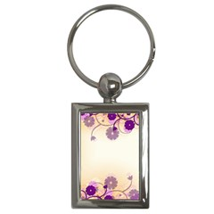 Floral Background Key Chains (Rectangle)