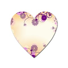 Floral Background Heart Magnet