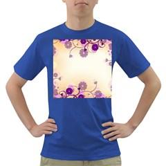 Floral Background Dark T Shirt