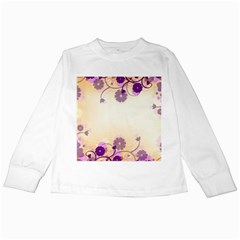Floral Background Kids Long Sleeve T-Shirts
