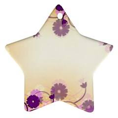 Floral Background Star Ornament (two Sides)
