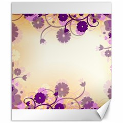 Floral Background Canvas 8  X 10