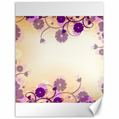 Floral Background Canvas 12  X 16