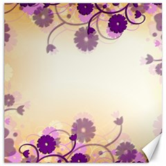 Floral Background Canvas 16  X 16