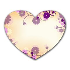 Floral Background Heart Mousepads