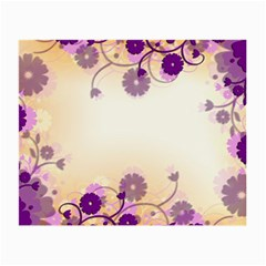 Floral Background Small Glasses Cloth (2 Side)