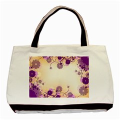 Floral Background Basic Tote Bag (two Sides)