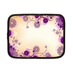 Floral Background Netbook Case (small)