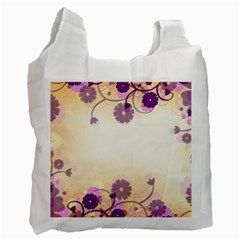 Floral Background Recycle Bag (one Side)