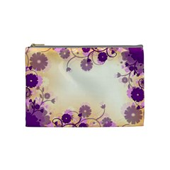 Floral Background Cosmetic Bag (medium)
