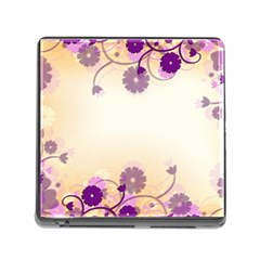 Floral Background Memory Card Reader (square)