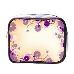 Floral Background Mini Toiletries Bags