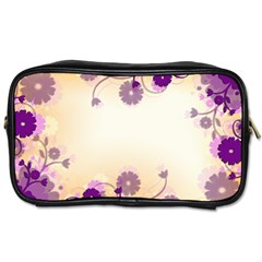 Floral Background Toiletries Bags