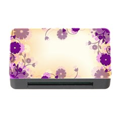 Floral Background Memory Card Reader With Cf