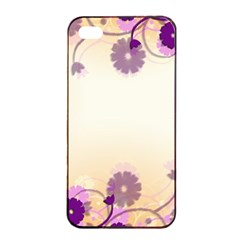 Floral Background Apple Iphone 4/4s Seamless Case (black)