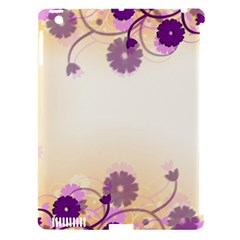 Floral Background Apple Ipad 3/4 Hardshell Case (compatible With Smart Cover)