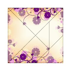 Floral Background Acrylic Tangram Puzzle (6  X 6 )