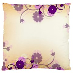 Floral Background Large Cushion Case (two Sides)